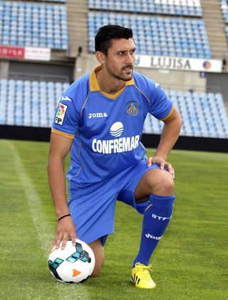 FC Getafe presents new striker Ciprian Marcia